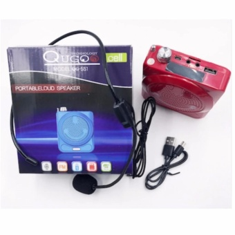 QuGoo Portable Loud Speaker With Lapel Microphone QG-551 (Red) Price Philippines