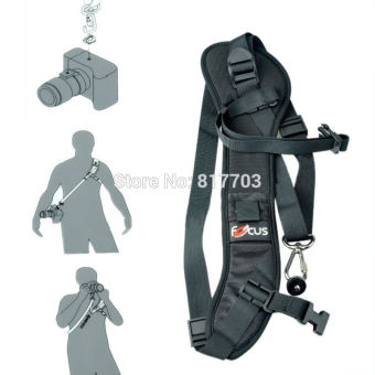 Quick Rapid Camera Single Shoulder Sling Black Strap for DSLRCamera 7D 5D Mark II D800 A77 60D - Intl