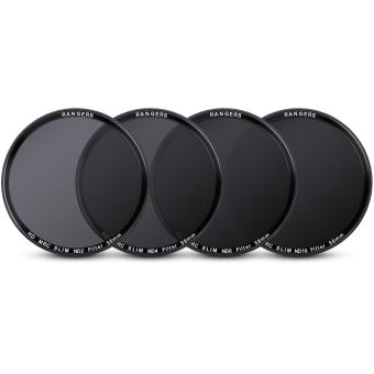 Rangers ND2 ND4 ND8 ND16 Filter Set 58mm Neutral Density Slim HD MRC RA18 4pcs - 4