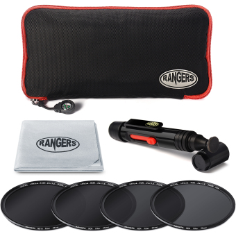 Rangers ND2 ND4 ND8 ND16 Filter Set 58mm Neutral Density Slim HD MRC RA18 4pcs - 5