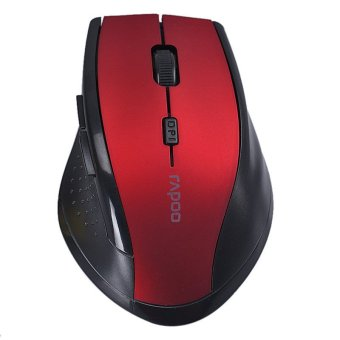 RAPOO 2.4GHz Wireless Optical Gaming Mouse Mice (Red) Price Philippines