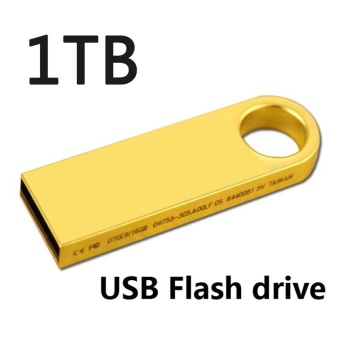 ~ READY STOCK ~Business Gifts Flash Drive Usb3.0 High-speedTransmission 1TB USB Drive Metal Texture U Disk Memory CardHigh-speed Read and Write Portable Android, PC Storage U Disk(gold) - intl