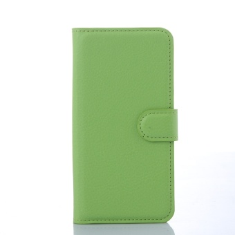 [Ready Stock] SZYHOME Phone Cases For BlackBerry Passport Q30 Luxury Retro Leather Wallet Flip Cover Solid Color Shell ( Black ) - intl - 5