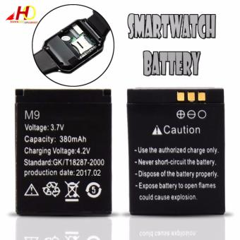 Rechargeable Li-ion polymer battery 380mAh 3.7V For A1,V8 and DZ09Smart Watch