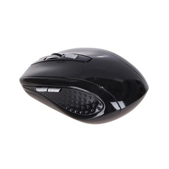 Rechargeable Wireless Mini Bluetooth 3.0 6D 1600DPI Optical Gaming Mouse Mice Black - intl