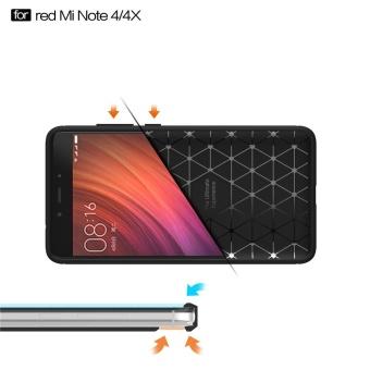 Redmi Note4 4x Case, Ultra-thin Brushed Carbon Fiber Slim ArmorSoft TPU Phone Back Full Cover Case For Xiaomi Redmi Note 4 / Note4X - intl - 4
