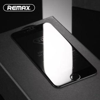 REMAX 0.3mm Anti-spy Privacy Tempered Glass Screen Shield Film for iPhone 7 Plus 5.5 inch - Black - intl