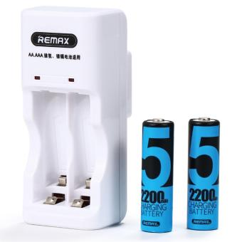 Remax AA Rechargeable Battery (2-pack with Charger)