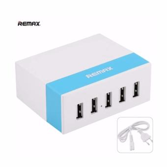 REMAX Desktop 5 USB Ports Fast Charger Adapter (Blue)