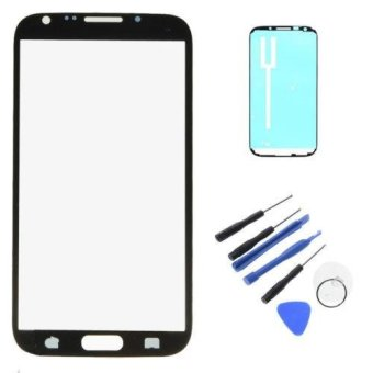 Replacement Screen Glass Lens with Sticky For Samsung Galaxy Note 2N7100 T889 - intl