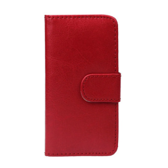 Retro Leather Wallet Flip Cover Case For Apple iPhone SE/5S/5 (Red)