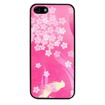 Retro Stripe Flower Pattern Phone Case for iPhone 5C (Black) product preview, discount at cheapest price