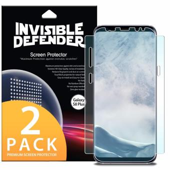 Ringke Invisible Defender [Full Coverage] Edge to Edge Curved SideCoverage Guaranteed Screen Protector for Samsung Galaxy S8 Plus