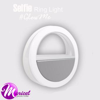 RK-12 Rechargeable LED Enhancing Selfie Ring Light for MobilePhones and Tablets (White)