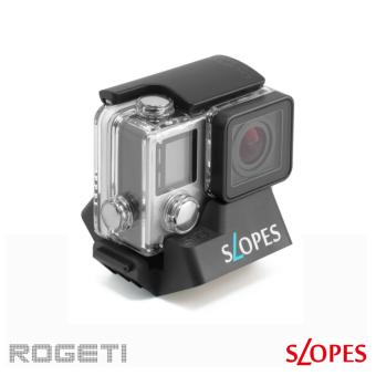 Rogeti Slopes Black Edition 18-Angle Instant stand Action Camera Housing for GoPro Hero, SJCAM, Xiaomi, etc (Black) - 2
