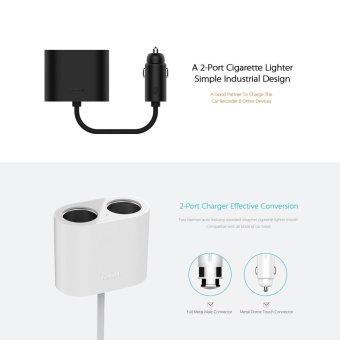 ROIDMI 2-Port Cigarette Lighter Adapter Splitter Socket Car Chargerfor iPhone Samsung Smartphone Tablets FM Transmitter - intl - 5