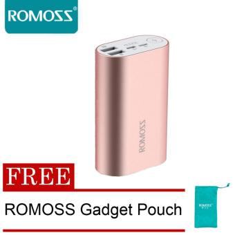 Romoss ACE 10000mah Metal Powerbank (Pink) with FREE Romoss GadgetPouch