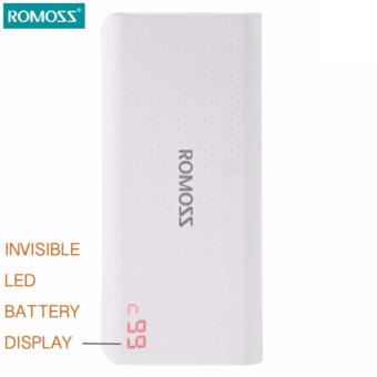 Romoss Sense 4 LED Original 10400mah Power Bank (WHITE)