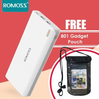 Romoss Sense 6 20000mAh Powerbank (White) with Gadget Pouch