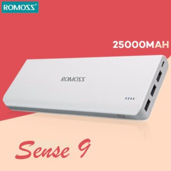 Romoss Sense9 25000mAh 3 Output Power Bank(White)