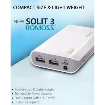 Romoss Solit 3 6000mAh Power Bank (White) - 2
