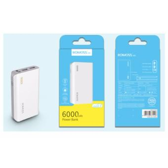 Romoss Solit 3 6000mAh Power Bank (White) - 5