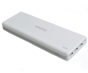 Romoss Solo 9 20000mAH Triple Output Power Bank (White)