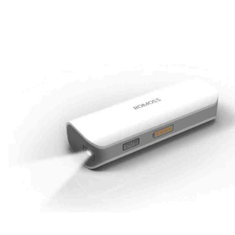 Romoss Solo1 2000mah Power Bank with LED Torch ( White )