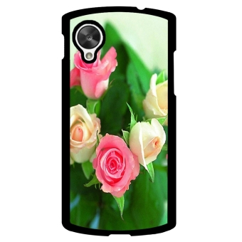 Rose Pattern Phone Case for LG Nexus 5 (Green)