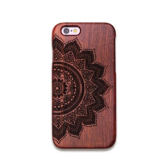 Rosewood True Wood Phone Case for Apple iPhone 6 Plus/ 6s Plus -YANTRA MANDALA - intl