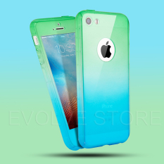 Roybens 360 Degree Full Body Protect Hard Slim Case Cover with Tempered Glass for iPhone 5
