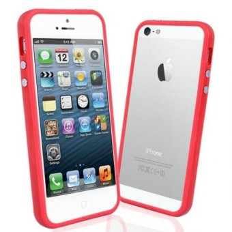 Rubber Bumper Case for iPhone 5/5S (Red)
