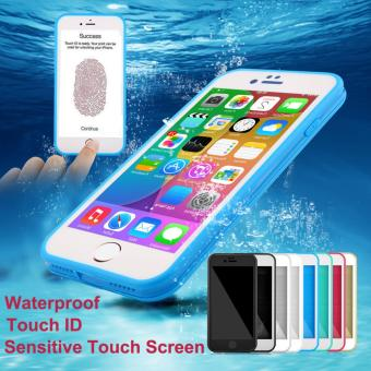 Rubber TPU Waterproof Front & Back Case For iPhone 6 Plus / 6S Plus