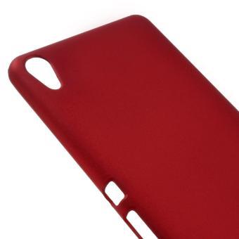 Rubberized Hard Cover Case for Sony Xperia XA / XA Dual - Red -intl - 4