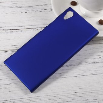 Rubberized Hard Cover Shell for Sony Xperia XA1 - Dark Blue - intl