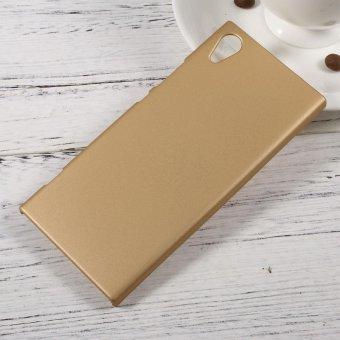 Rubberized Hard Phone Case for Sony Xperia XA1 - Gold - intl