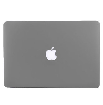 Rubberized Protective Case Cover For Apple Macbook Retina 13 inch(Grey) with Free Keyboard Cover / Protector (Black) - 3