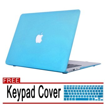 "Rubberized Protective Tablet Case Cover For Apple Macbook Air 11.6""(Sky Blue) with Free Keypad Cover / Protector (Sky Blue) Price Philippines"