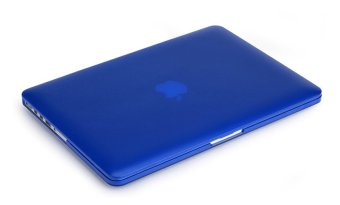 Rubberized Protective Tablet Case For Apple Mac-book 12 Inch retina(blue)