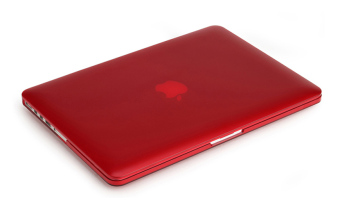 Rubberized Protective Tablet Case For Apple Mac-book 15.4 Inchretina (Red)