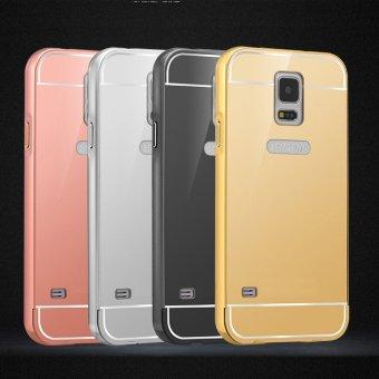 RUILEAN Luxury Metal Aluminum Bumper for Samsung Galaxy S5 (Silver) - 5