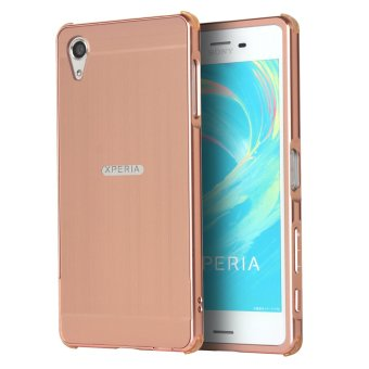 RUILEAN Luxury Metal Aluminum Bumper for Sony Xperia X Performance(Pink)