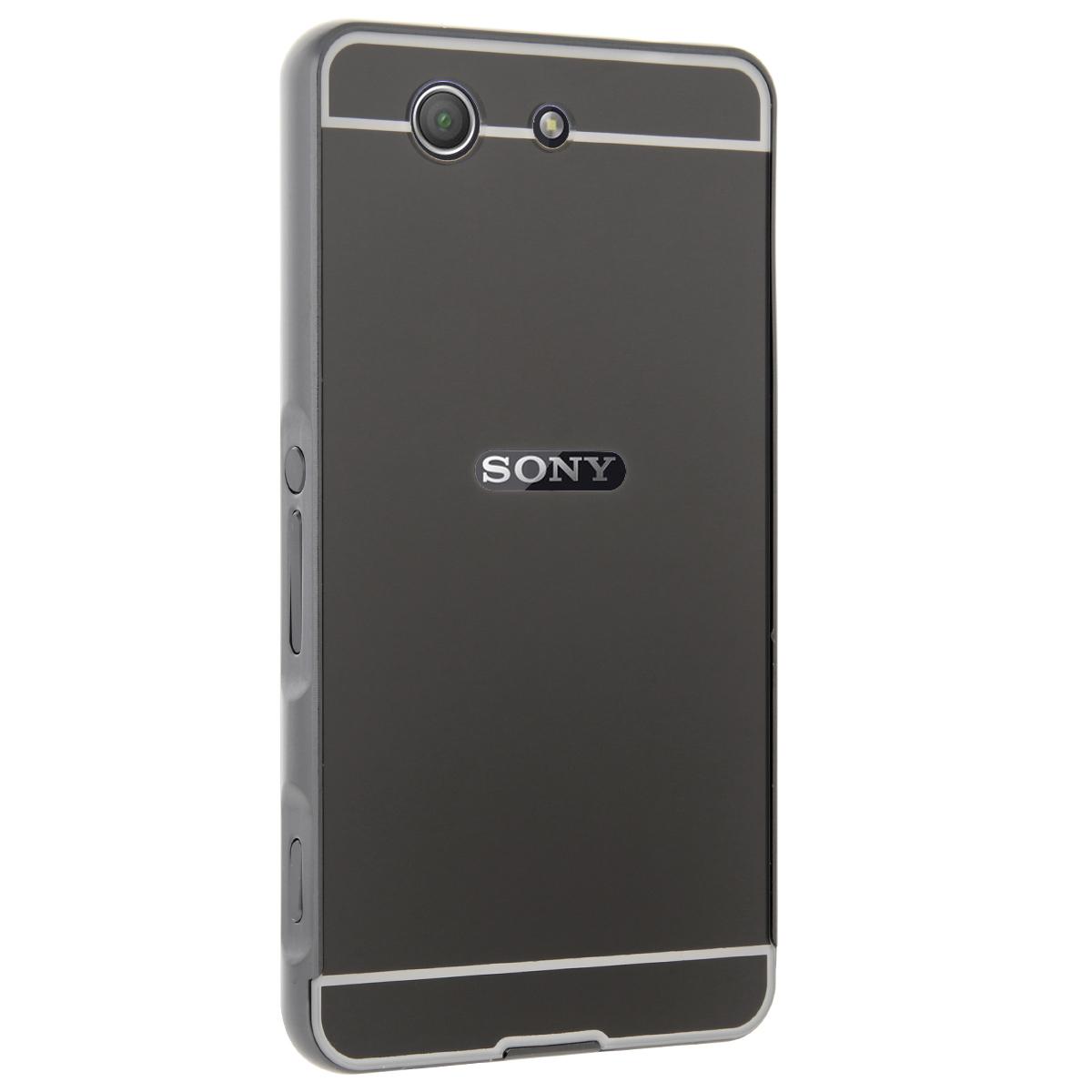 RUILEAN Luxury Metal Aluminum Bumper for Sony Xperia Z3 CompactCase Detachable Mirror Hard .