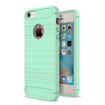 RUILEAN Rugged Armor Case For Apple iPhone 5 / 5S / iPhone SECarbon Fiber Resilient Drop Protection Anti-Scratch Cover MintGreen - intl