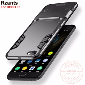 Rzants For OPPO F3 [Armor Series] Shockproof Kickstand Hard Back Cover Case - intl