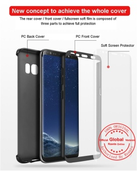 Rzants For Samsung S8 Galaxy 360 Full Cover ShockProof Case withfeel soft screen protector - intl - 3