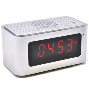 S-61 Wireless Bluetooth Speaker Music Sound Box with Alarm Clock Function LCD Screen Desktop Support Hands-free Call TF Card