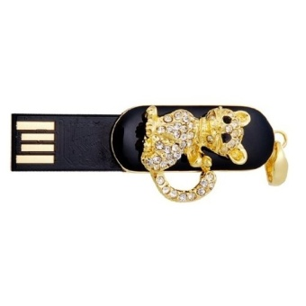 S and F Cat Pendant 8GB USB Flash Drive Necklace Computer Memory Stick Pen Drive Gift (Gold) (Intl) - picture 2