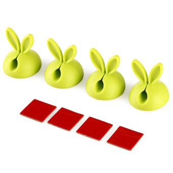 S & F Rabbit Cable Drop Clip 4pcs Green - Intl