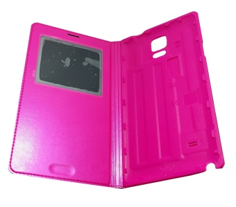 S-View Flip Cover for Samsung Note 4 (Pink)